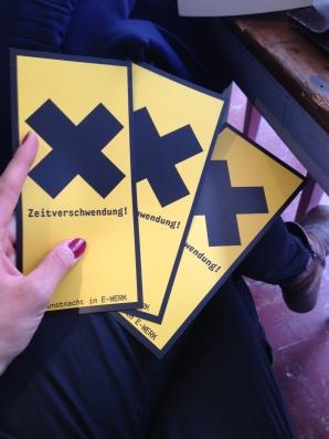 ZEITVERSCHWENDUNG 3. KUNSTNACHT E-werk Freiburg (DE)
