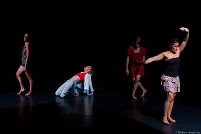 BLACKJACK - IMPROVISATION QUINTETT VOLER VOLAR Final Pieces TIP with from left to right Nadine Jundt, Mirjam Bührer, Me and Noelia Mansilla Diaz © Robin Gommel