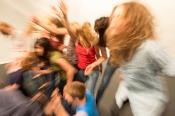 TANZPLAGE II - Lea Martini with Anna-Karin Domfors, Lisen Ellard, Patricia Celine Monika Eisele, Tea Harryson, Katrine Johansen, Mirj Karvat, Lisa Klingelhöfer, Jo Koppe, Renate Müller-Procyk, Annika Pawlitz, Lena Schillebeeckx, Rosalie Schönherr © Rainer Muranyi, Theater Freiburg (DE)