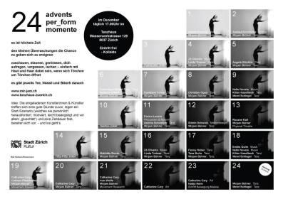 ADVENTS-PERFORM-MOMENT @ Tanzhaus Zürich with Mirjam Bührer (CH)